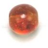 Glass Bead Cracked 8mm Dark & Light Topaz - Strung